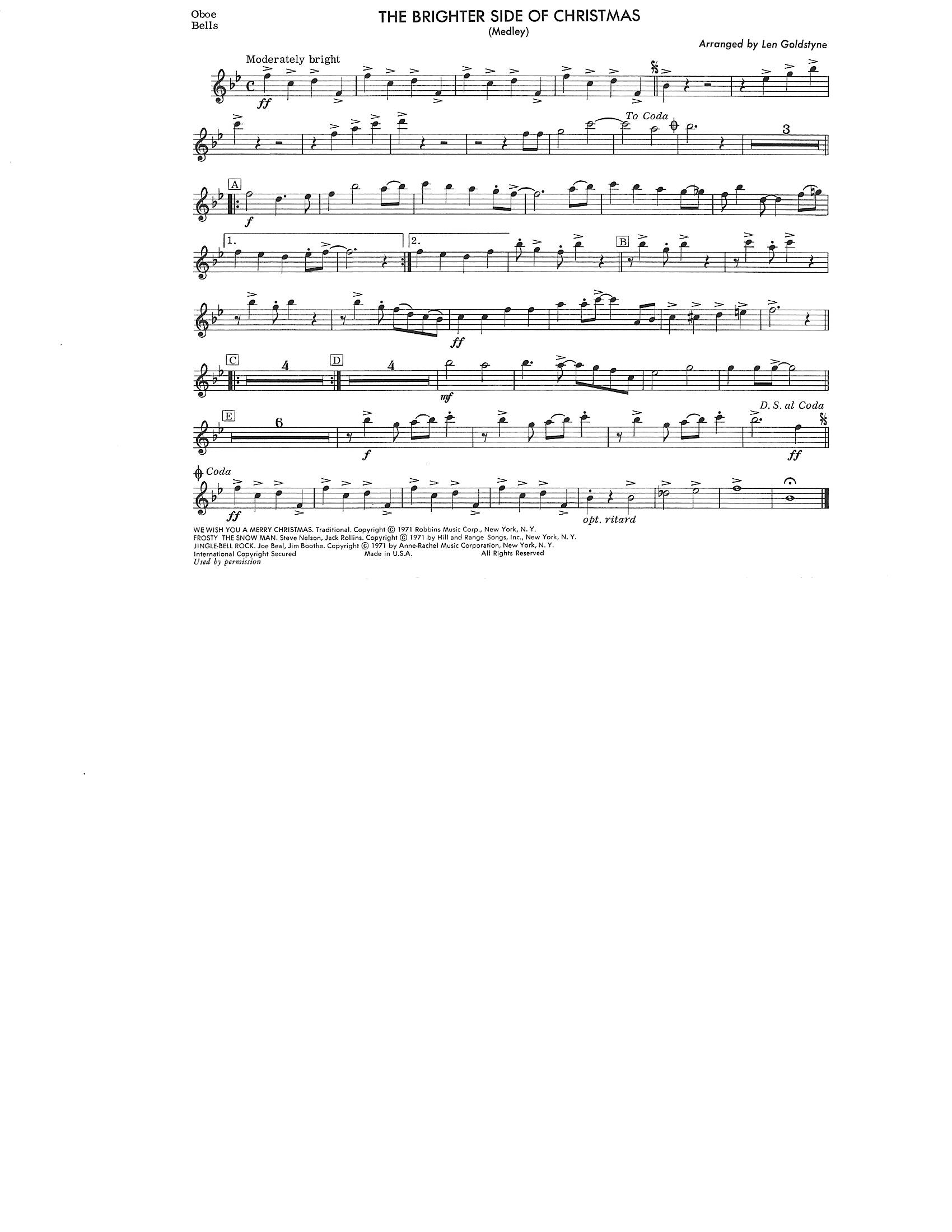 Oboe Bells Snare Tenor Drums